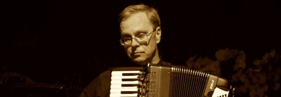 Dave Hartl playing accordion